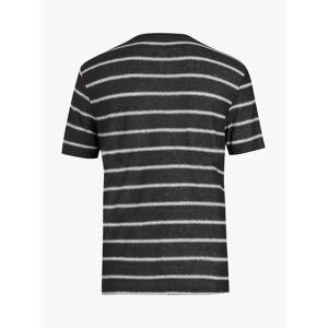 AllSaints Vehicle Stripe Crew Neck T-Shirt, Washed Black/Chalk White  - Black - Size: Medium
