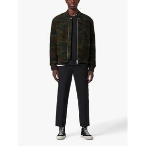AllSaints Bastion Wool Blend Bomber Jacket, Khaki  - Green - Size: Extra Small