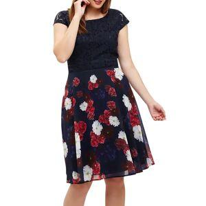 Studio 8 Nicole Dress, Navy/Multi  - Multi - Size: 14