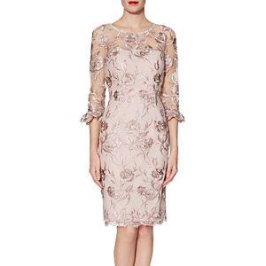 Gina Bacconi Denise Dress, Pink Gold