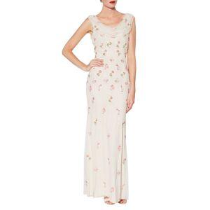 Gina Bacconi Sophia Beaded Maxi Dress, Oyster  - Neutrals - Size: 10