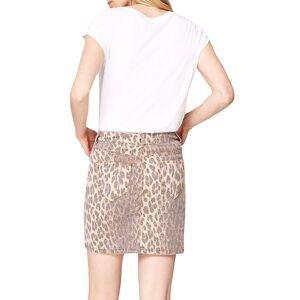 Damsel in a Dress Leopard Alexia Denim Skirt, Brown  - Brown - Size: 18
