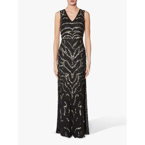 Gina Bacconi Sorsha Beaded Dress, Black/Silver  - Black - Size: 10