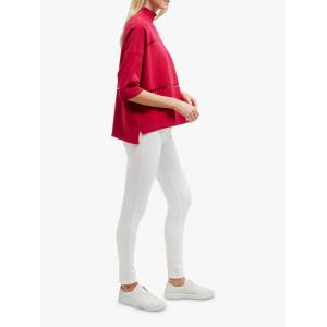French Connection Milano High Neck Jumper  - Summer Rouge - Size: Extra Small