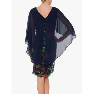 Gina Bacconi Natalya Chiffon Cape Dress, Spring Navy  - Blue - Size: 10