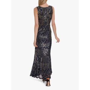 Gina Bacconi Alundra Beaded Maxi Dress  - Navy - Size: 10