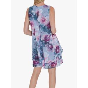 Gina Bacconi Alyona Floral Chiffon Dress, Lilac/Multi  - Multi - Size: 14