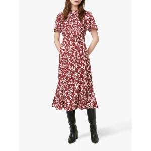 French Connection Bruna Dress, Rhubarb/Cream  - Red - Size: 6