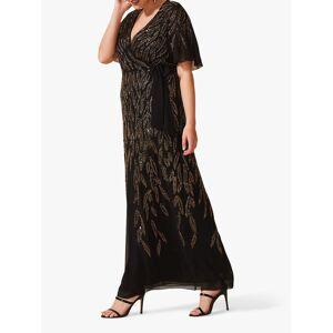 Studio 8 Hermosa Beaded Dress, Black/Gold  - Black - Size: 24