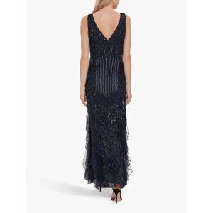 Gina Bacconi Jamila Beaded Maxi Dress  - Navy - Size: 10