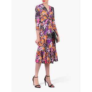 Jolie Moi Twist Front Flare Dress, Purple Mint