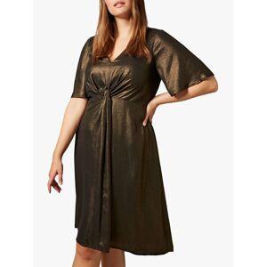 Studio 8 Wren Knot Dress, Gold  - Gold - Size: 24