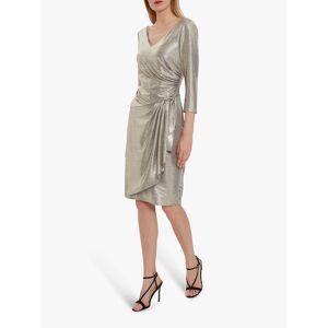 Gina Bacconi Daya Metallic Jersey Dress  - Light Gold - Size: 24