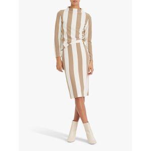 Club Monaco Striped Pencil Skirt, Khaki/Multi  - Multi - Size: Large