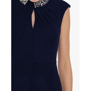 Gina Bacconi Ezra Stretch Mesh Maxi Dress  - Spring Navy - Size: 10