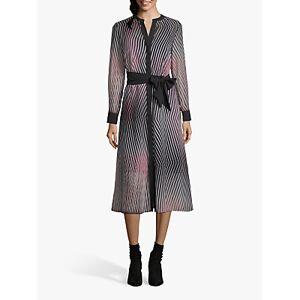 Betty & Co. Layered Stripe Midi Dress, Rose/Black