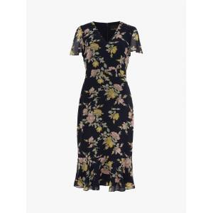 Phase Eight Melissa Floral Dress, Navy Multi  - Blue - Size: 14