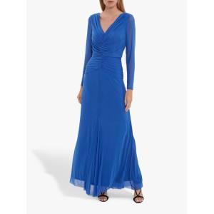 Gina Bacconi Kelly Mesh Maxi Dress  - Autumn Blue - Size: 10