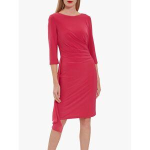Gina Bacconi Jamina Jersey Chiffon Dress  - Wow Pink - Size: 14