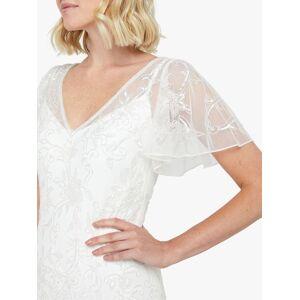 Monsoon Kitty Bridal Embellished Maxi Dress, Ivory  - White - Size: 10