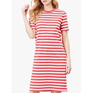 Joules Liberty Jersey Dress, Poppy Stripe  - Poppy Stripe