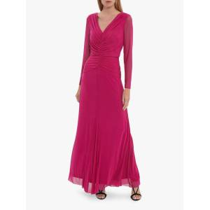 Gina Bacconi Kelly Mesh Maxi Dress  - Cerise - Size: 10