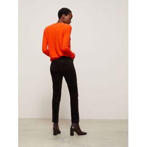 John Lewis & Partners Straight Mid Rise Corduroy Jeans  - Dark Brown - Size: 20