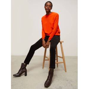 John Lewis & Partners Straight Mid Rise Corduroy Jeans  - Dark Brown - Size: 8