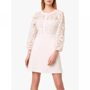 French Connection Shema Lace Jersey Dress, Summer White