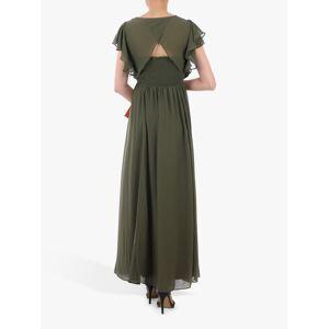 Jolie Moi Ruffle Sleeve Bridesmaid Dress, Soldier Green  - Green - Size: 14