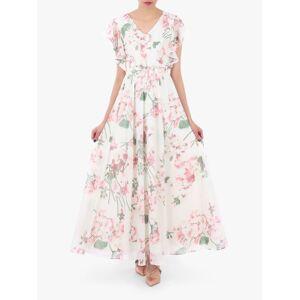 Jolie Moi Floral Maxi Bridesmaid Dress, Cream  - Neutrals - Size: 14