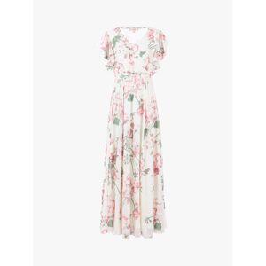 Jolie Moi Floral Maxi Bridesmaid Dress, Cream