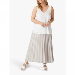 Live Unlimited Curve Pleated Maxi Skirt, Mink