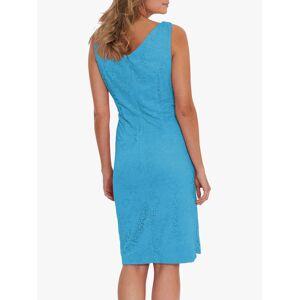 Gina Bacconi Josette Floral Lace Sleeveless Dress  - Summer Turquoise - Size: 22