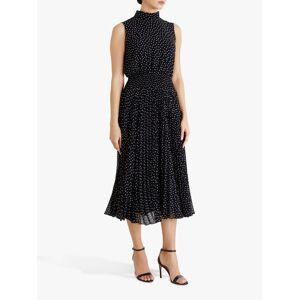 Fenn Wright Manson Dorothee Spotted Midi Dress, Navy/Spots  - Blue - Size: 18