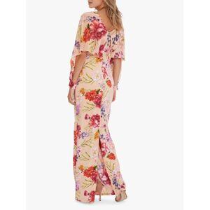 Gina Bacconi Gracey Chiffon Floral Print Maxi Dress, Blush Rose/Green  - Multi - Size: 14