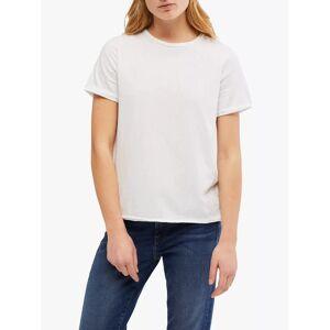 White Stuff Neo Jersey T-Shirt  - White Plain - Size: 18