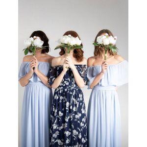 Jolie Moi Chiffon Maxi Dress, Light Blue