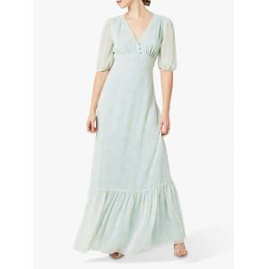 Maids to Measure Mathilda Floral Print Dress  - Misty Green - Size: 14