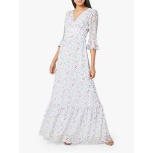 Maids to Measure Hatty Floral Print Flared Maxi Dress, Multi  - Multi - Size: 14