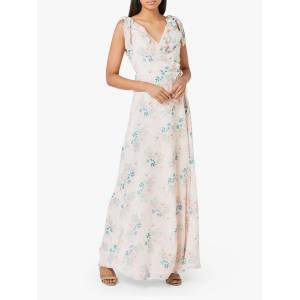 Maids to Measure Lily Floral Print Sleeveless Maxi Dress, Multi  - Multi - Size: 14