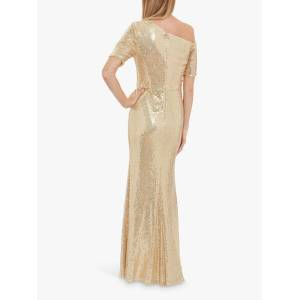 Gina Bacconi Erin Embellished Maxi Dress  - Gold - Size: 10