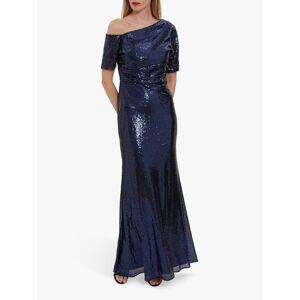 Gina Bacconi Erin Embellished Maxi Dress  - Navy - Size: 10