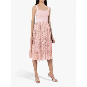 French Connection Elsa Lace Midi Bridesmaid Dress  - Magnolia - Size: 14