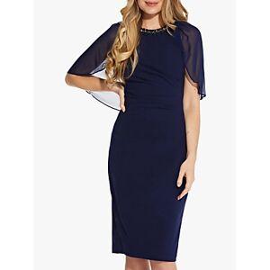 Adrianna Papell Chiffon Mini Dress, Navy