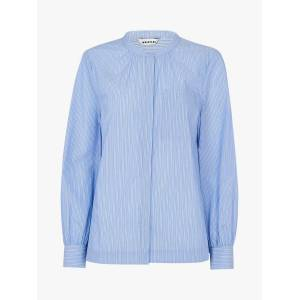 Whistles Stripe Cotton Shirt, Blue/Multi  - Blue - Size: 6