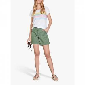 hush Rainbow Stripe T-Shirt, White/Multi/Pastel