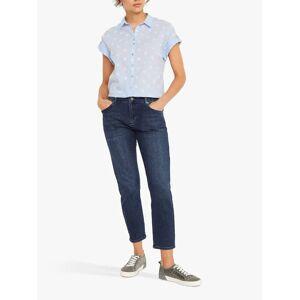 White Stuff Emi Spot Shirt, Blue  - Blue - Size: 22