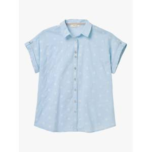 White Stuff Emi Spot Shirt, Blue  - Blue - Size: 22