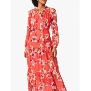 Phase Eight Bernadette Floral Print Maxi Dress, Sunset  - Red - Size: 12